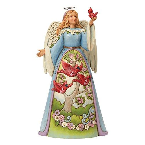 Department 56 Jim Shore Heartwood Creek Angel with Cardinal Figurine, 9.5