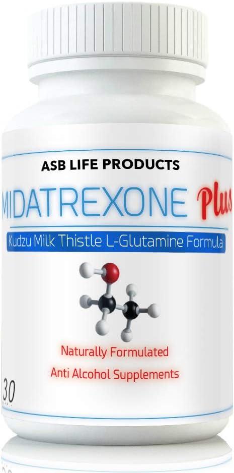 M Trexone Plus – Anti-Alcohol Alcohol Support Supplement Natural Alcohol Cravings Support Detox KUDZU Milk Thistle L Glutamine Folate Niacin VIT C Biotin B Vitamins Folic Acid Best Control Formula