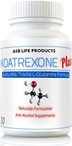 M Trexone Plus – Anti-Alcohol Alcohol Support Supplement Natural Alcohol Cravings Support Detox KUDZU Milk Thistle L Glutamine Folate Niacin VIT C Biotin B Vitamins Folic Acid Best Control Formula
