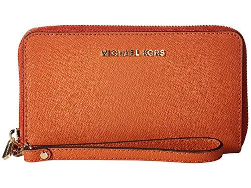 Michael Michael Kors Womens Jet Set Travel Large Leather Wallet (Bag Michael Warranty Kors)