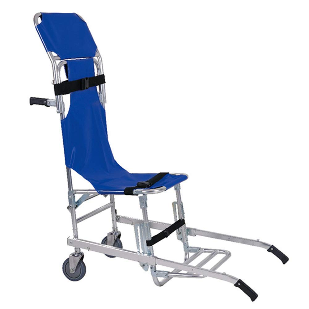 QETU Stair Chair, Folding Evacuation Stair Stretcher Chair for Disabled People with Two People Carrying, 159Kg/350.3Ibs Capacity by QETU
