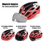 Casco-Bici-con-Luce-di-LEDCertificato-CE-Casco-con-Visiera-Magnetica-Staccabile-Shield-Casco-da-Bici-Super-Leggero-Casco-integralmente-Adulto-da-Bicicletta-Skateboarding-Sci-Snowboard-NR-096