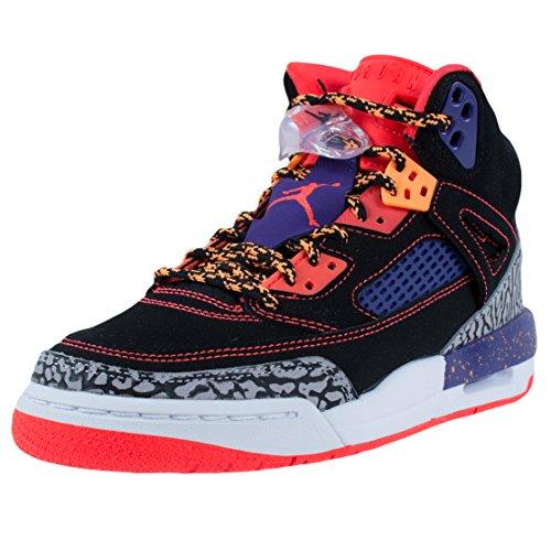 (Jordan Nike Kids Spizike Bg Blk/Brght Crimsn/Crt Prpl/Brght Basketball Shoe 7 Kids US)