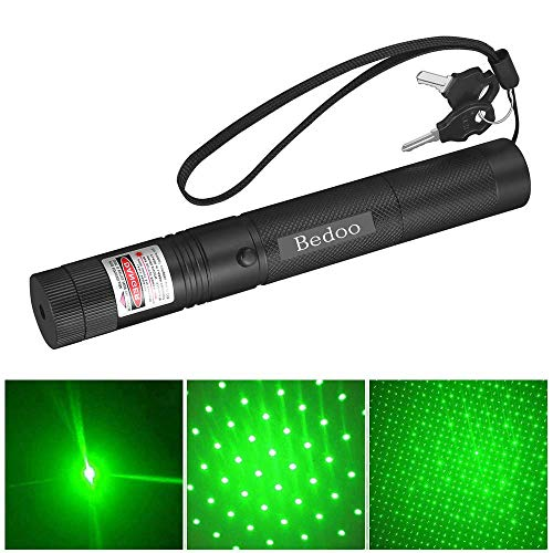 6 Patterns Green Laser Pointer High Power Hunting Rifle Scope Sight Laser Pen, Remote Laser Pointer Travel Outdoor Tactical Flashlights, LED Interactive Baton Funny Laser Pointer Toys for Cats/Dogs