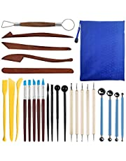 FineGood 26 PCS Polymer Clay Tools, FineGood Modelling Clay Sculpting Tool Set Ceramic Clay Moldelling Tool Kits for Beginners Kids