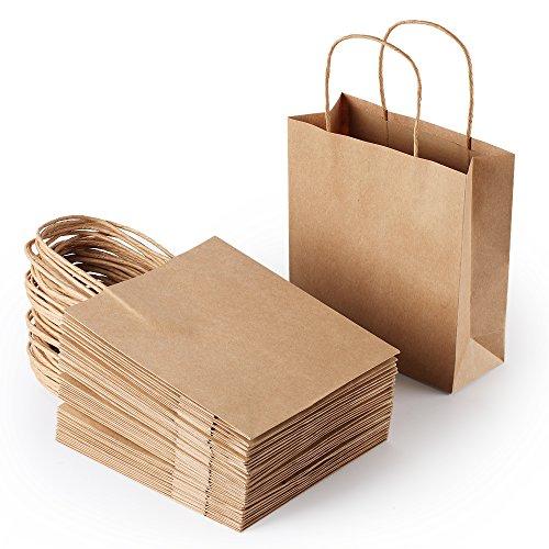 "Three & Thirteen 30-Count Brown Kraft Paper Gift Bag, 8""x3""x8.5"""
