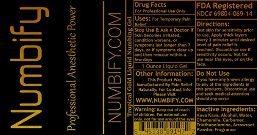 Numb-ify Strong Numbing Lidocaine Anesthetic Liquid Gel/Best for Pain  Relief – Numb (1 Ounce)