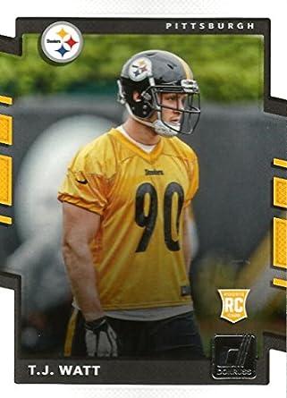 Amazon.com  2017 Donruss  372 T.J. Watt Pittsburgh Steelers Rookie ... 3f0a16acf