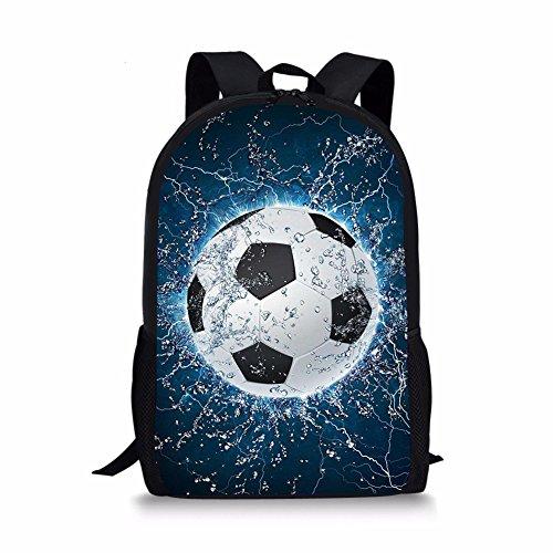 CHAQLIN Stylish Water Soccer Sport Men Backpack Polyester Durable Boys Schoolbag