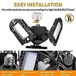 Garage Lights, LED Deformable Garage Light, Ultra-Bright Shop Lightning with 3 Adjustable Panels, Garage Ceiling Light… 9