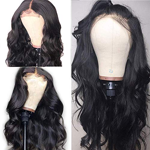 Andrai Hair Lace Front Wigs Glueless Natural Wavy Body Wave Synthetic Heat Resistant Fiber Hair Wig With Baby Hair For Black Women (Heat Resistant Wigs Lace Front)