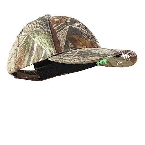 Camo Hunting Cap - Panther Vision POWERCAP LED PRO Hat Ultra-Bright Hands Free Lighted Battery Powered – Real tree Xtra (CUB6-282580)
