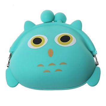 EXOH Silicona Dibujos Animados Cute Owl Bolsa de Dinero en ...