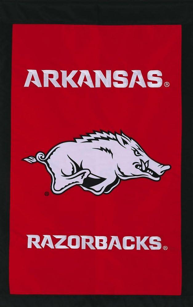 Red University of Arkansas Razorbacks Logo Garden Flag