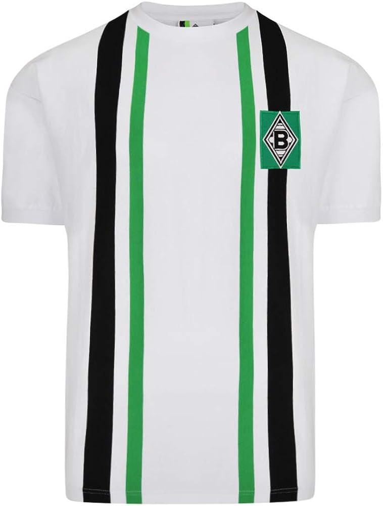 ScoreDraw Borussia Mönchengladbach - Camiseta para hombre (1974), color blanco