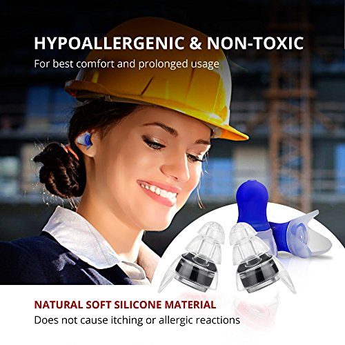 High Fidelity Earplugs Protection for Professional Musicians, DJ's at Concerts - Noise Cancelling Ear Plugs for Sleeping, Travel, Swimming, Drummers and Isolate Industrial Sounds by Zollver (Image #7)