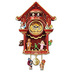 The Muppet Show LED Lighted Cuckoo Clock With Kermit the Frog Miss Piggy More by The Bradford Exchange