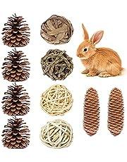 4+6 stuks verveling breker kleine dier activiteit spelen kauwspeelgoed kleine huisdier speelgoed rotan ballen hamster kauwspeelgoed natuurlijke houten molaire tanden zorg speelgoed set voor rat, gerbil, konijnen, chinchilla's, cavia's