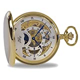 Rapport of London Gold Plated Dual Time Pocket Watch with 17 Jewel Movement