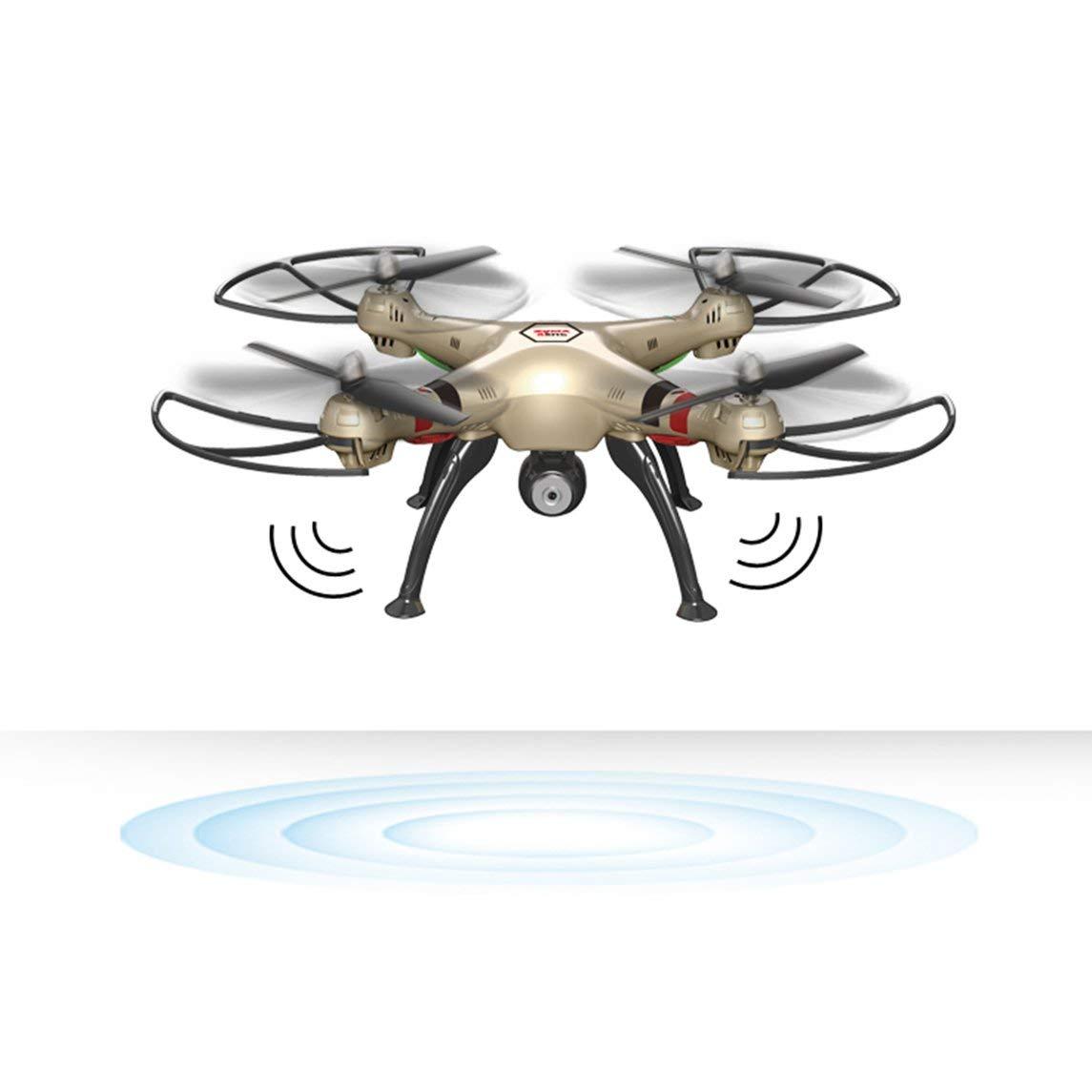 Footprintse Drohne mit WiFi HD Kamera Hubschrauber Quadcopter Dron mit Schwebefunktion-Farbe: Rose Gold