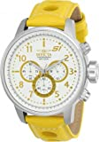 Invicta 48mm S1 Rally GPX Quartz Chronograph Yellow Leather Strap Watch