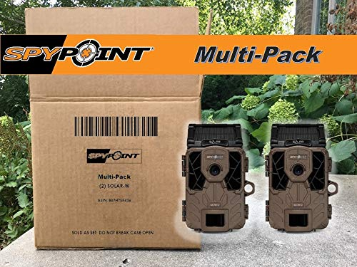 SPYPOINT Solar-W Trail Camera 12MP HD Video Patented Solar Panel&Rechargeable Built-in Battery, High Power LEDs, Super Low Glow, IR Boost Tech, 2'' Screen, 0.07s Trigger Speed ((2) Solar-W Cameras) by SPYPOINT (Image #2)