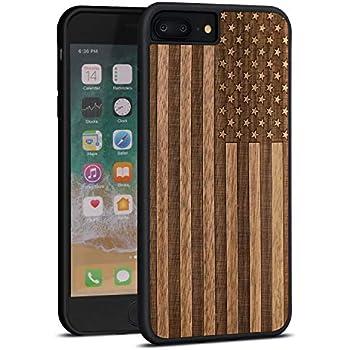 Amazon.com: Carcasa de madera de bambú para Apple iPhone 7 ...