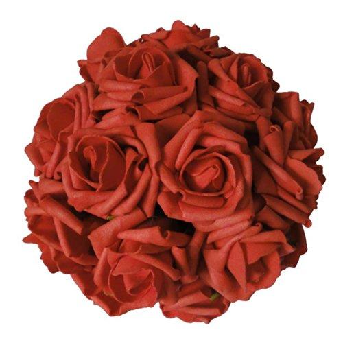 lily garden 2 dozen rose bridal wedding bouquets artificial flower diy red