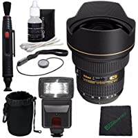 Nikon AF-S NIKKOR 14-24mm F2.8G ED Lens + Lens Cleaning Pen + Microfiber Cleaning Cloth + Lens Cap Keeper + SLR Lens Pouch Bundle