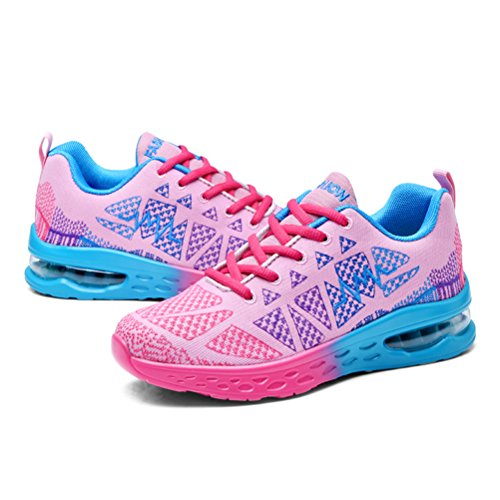 Zapatillas de XiXiDiy Rosa Mujer de Running Caucho para URWSO6dqSw
