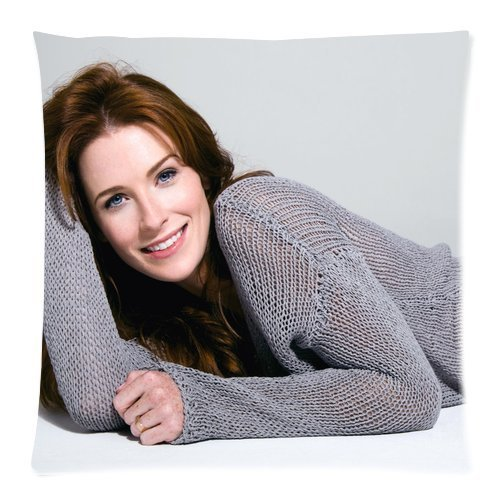 Bridget Regan Soft Cotton Custom Zippered Square Pillowcase Pillow Case Covers Standard Size 18x18 Inches (Twin sides)