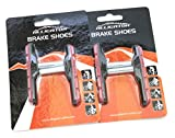 Alligator Cantilever MTB Mountain Bicycle Bike Post Type Brake Shoes Pads (2 Pair), Black/Red