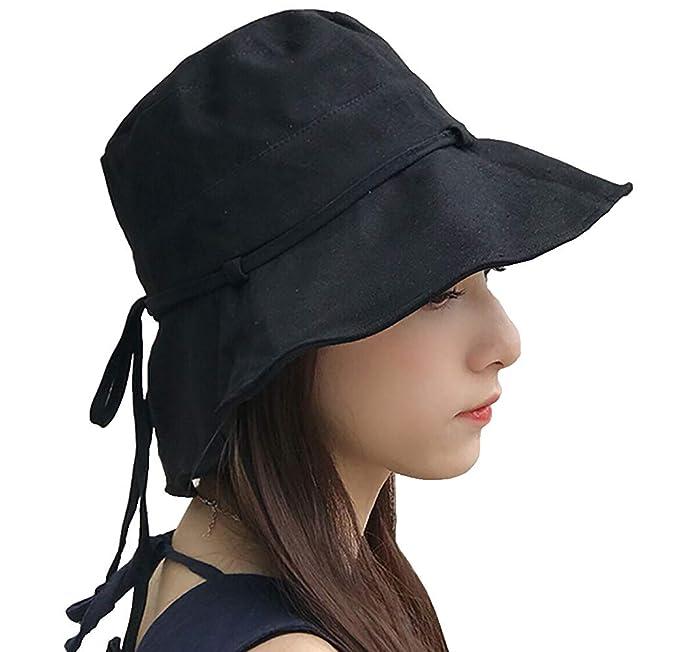 Faro Dor Women Summer Sun Hat Uv Sun Protection Wide Brim Cap Foldable Floppy Bucket Hat by Faro Dor