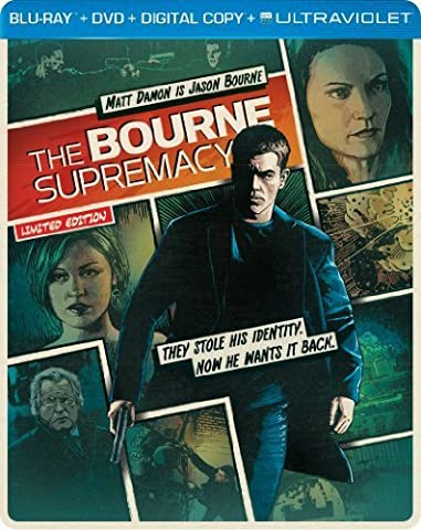 The Bourne Supremacy (Steelbook) (Blu-ray + DVD + DIGITAL with UltraViolet) by Universal Studios (Universal Studios Steelbook)
