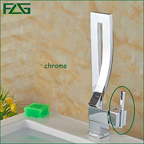 Newfangled Kitchen Faucet Deck Mounted Kitchen Water Tap Black Square Waterfall Griferia Lavamanos Cold & Hot Musluk FLG100012,Yellow