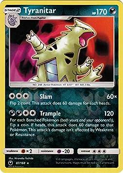 SM CELESTIAL STORM TYRANITAR 87//168 RARE HOLO REVERSE Pokemon