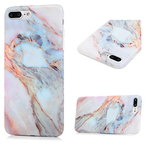 iPhone 8 Plus Case, iPhone 7 Plus Case, KASOS Unique Marble Pattern Design Soft TPU Shell Slim Fit Abrasion Resistance Anti-Scratch Lightweight Bumper Cover - Jade
