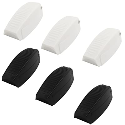 6 pcs Baggage Door Catches, FineGood Plastic Rounded Rv Camper Motorhome Catch Compartment Clip Latch - Black, White: Automotive