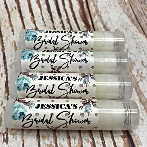 15 Lip Balm Favors - Bridal Shower Favors - Rustic Theme Favors - Personalized Favors