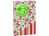 NW13033H24 * Ribbon Candy (reversible) 24''x 417' Recycled Gift Wrap Counter Roll