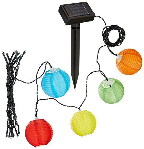 LEAZEAL 20 Lantern Ball Lights Solar Powered Christmas String Lights for Outdoor, Patio, Garden, Holiday, Party, Wedding(Warm White) from LEAZEAL