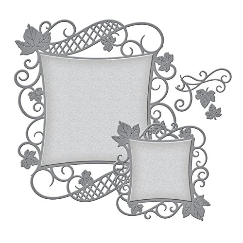 Spellbinders S4-525 Nestabilities Decorative Accents Victorian Garden Decorative Curved Square Etched/Wafer Thin Dies by Spellbinders