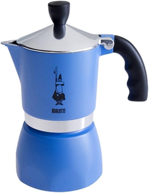 Bialetti 4632 Espressokocher Fiammetta f/ür 3 Tassen in Aluminium Hellblau 30 x 20 x 15 cm