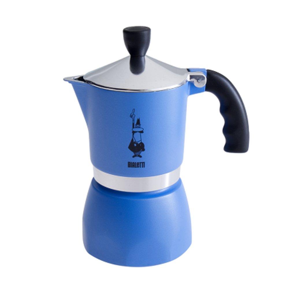 Bialetti Fiammetta 3 Tasssen Espressekocher fü r 3 Tassen / Alu / blau 20003972/MR