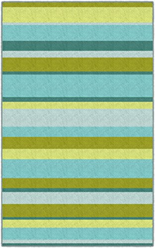 Brumlow Mills LW10038-40×60 Lime Stripes Traditional Green Area Rug, 3'4″ X 5′ Review
