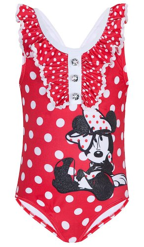 Disney Store Red Minnie Mouse Swimsuit Size Large 10: 1-P...