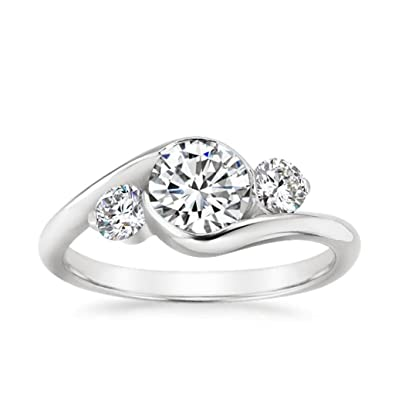 9880c7ce31 Buy 18K Gold American Diamond Rings Solitaire Rings Gold Wedding Engagement  Band For Women Online at Low Prices in India | Amazon Jewellery Store -  Amazon. ...
