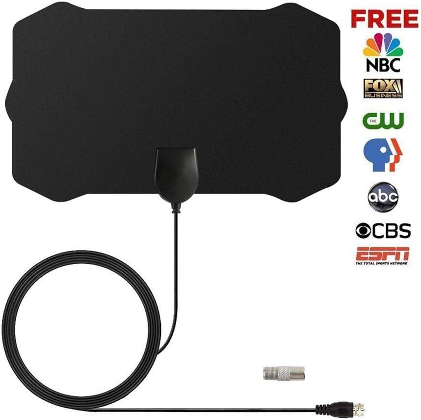 FOONEE 4K HDTV Antena, 50 Miles 20DBI TV Antena para TV Digital Interior para 4K VHF UHF 1080P Canales 12.1ft Cable: Amazon.es: Hogar