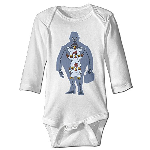 [Alexx We're All Chickens Newborn Jumpsuit Bodysuit Long-sleeve Outfits White 24 Months] (John Watson Costume)