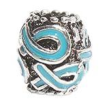 Teal Multi Ribbon Charm Fits Pandora Style Bracelets